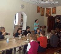 Масленичная встреча с детьми в храме